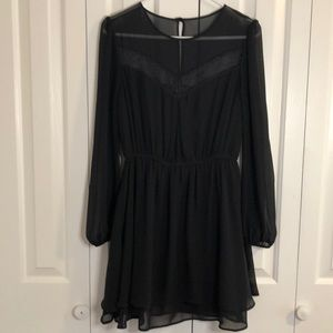 2/$12 ASOS Little black dress size 6 sheer